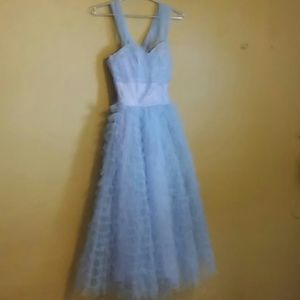Periwinkle tulle prom dress